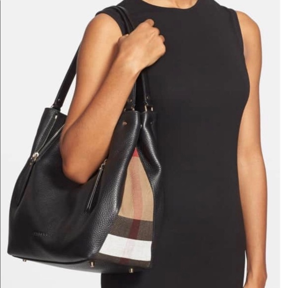 Burberry Handbags - Burberry Leather Canvas Medium Maidstone Tote-100% 179a81f59c013